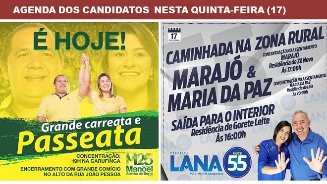 Resultado de imagem para Eleição Suplementar: O Amarelo faz mobilização à noite na cidade, e o Azul comícios na zona rural