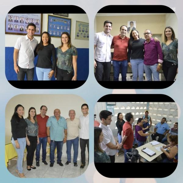 Resultado de imagem para Vice-governador Fábio Dantas e deputados Rafael Motta e Cristiane Dantas são recebidos pela vereadora Aize Bezerra