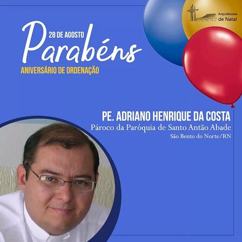 Resultado de imagem para São Bento do Norte: Padre Adriano faz aniversário de ordenação sacerdotal
