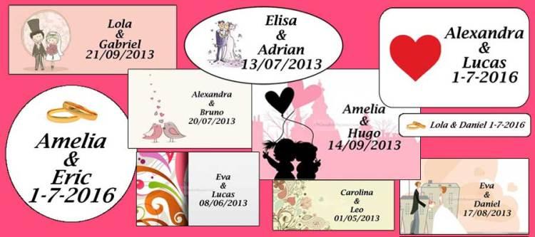 Tarjetas para regalos de boda