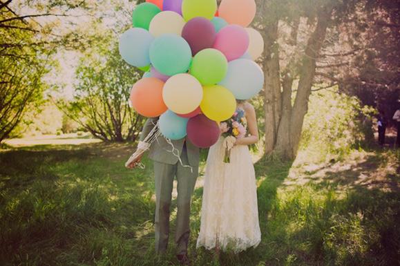 Globos como decoración el día de tu boda.