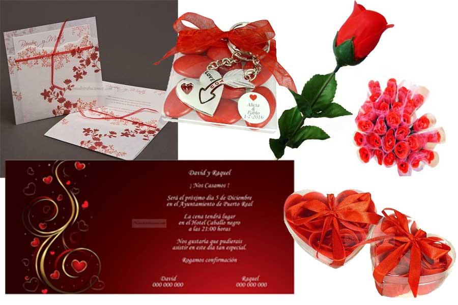 Ideas para utilizar el color rojo en la boda