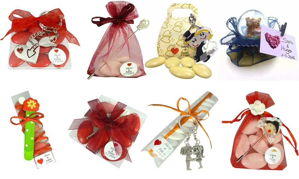 Divertidos regalos de boda con peladillas
