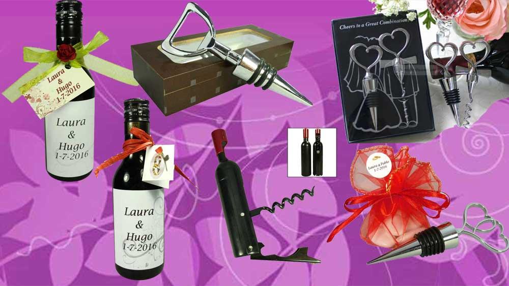 Vinos y accesorios de vino para regalar en bodas
