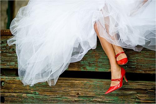 Zapatos rojos para novia