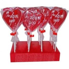 Piruletas de Corazón con Mensajes