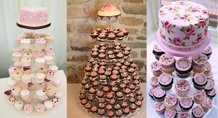Pasteles y cupcakes para bodas