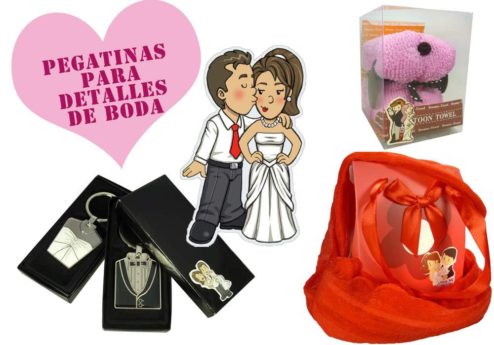 Pegatinas para regalos de boda