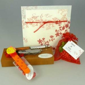 Colección de regalos de boda que combinan
