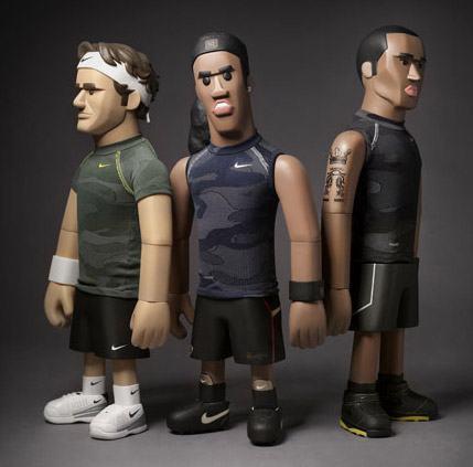 Ronaldinho Gaúcho, Roger Federer e Kobe Bryant