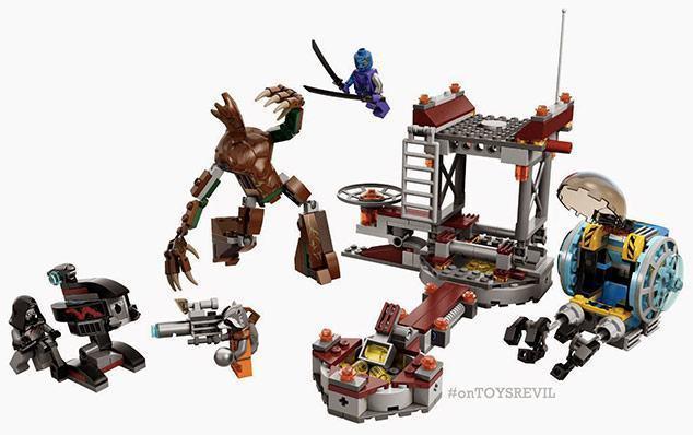 Guardies Da Galxia Em LEGO Com Star Lord Rocket Rackoon