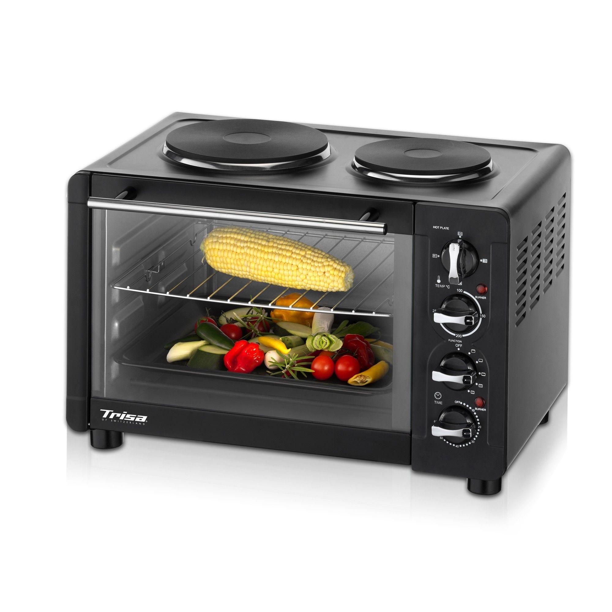 Cuptor electric cu plite Trisa Multi Bake & Cook, 1500W, 30L, Grill, 5 trepte de temperatura