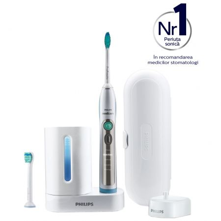 Periuta de dinti electrica Philips Sonicare FlexCare+ HX6972/10, 31000 miscari de curatare/minut, 5 programe, 2 capete