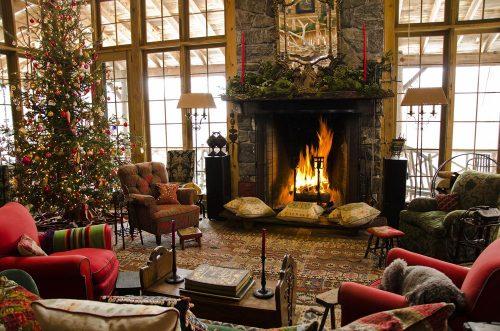 decorațiuni pentru crăciun în stil rustic
