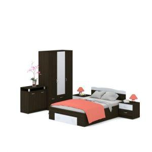 Dormitor Tamos, Wenge Alb, Dimensiune Pat 200 x 160 cm