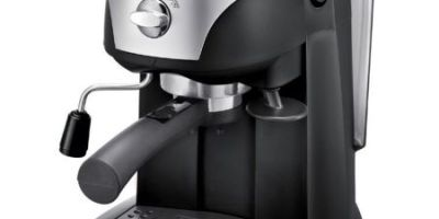 Espressor manual DeLonghi EC221.B, Dispozitiv spumare, Sistem cappuccino, 15 Bar, 1 l, Oprire automata