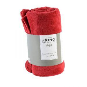 Patura Kring Fleece, 150 x 200 cm, Rosu