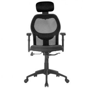 Scaun de birou ergonomic Kring Uno, Mesh, Negru