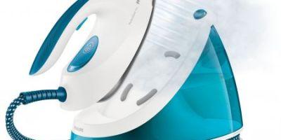 Statie de calcat Philips PerfectCare Viva GC7035/20, Talpa SteamGlide Plus, 2400 W, 1.7 l, 210 g min