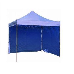Pavilion pentru gradina, albastru Strend Pro Tyson, tip evantai, 2 pereti laterali, 300 x 300 cm