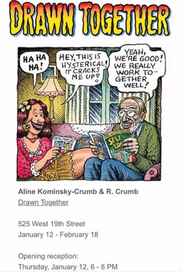 Exposicion Robert Crumb Aline Drawn together
