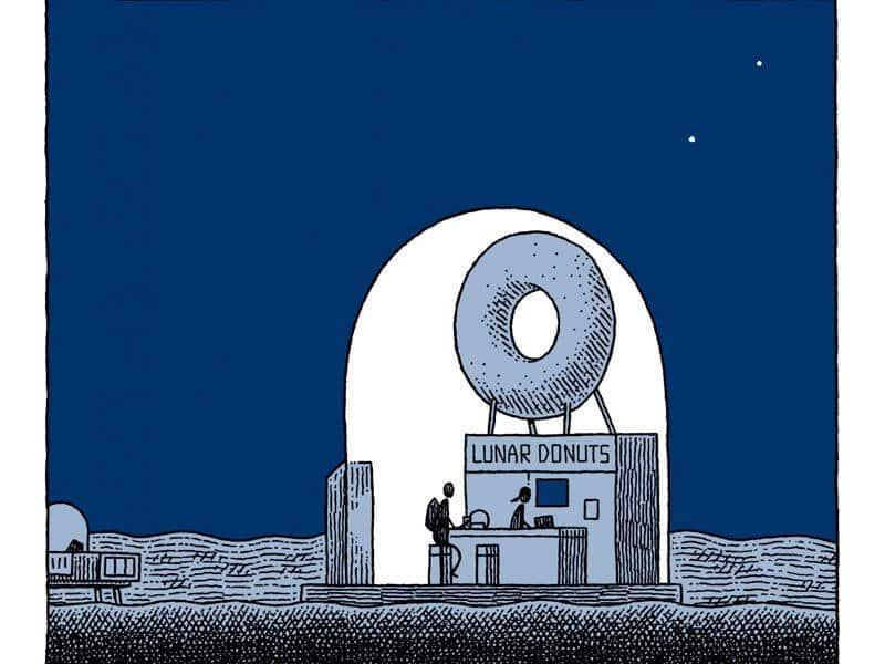 un policia en la luna interior