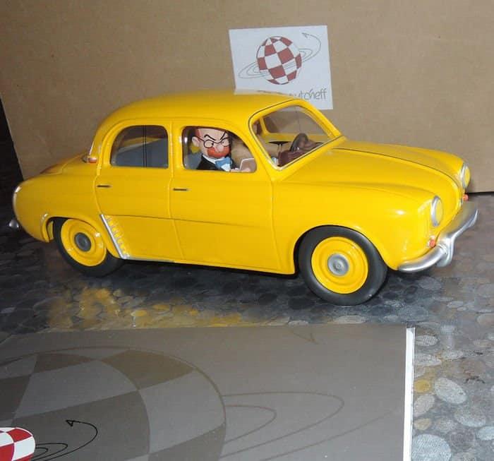 Tillieux, Maurice - Statuette Aroutcheff - Renault Dauphine jaune - Gil Jourdan