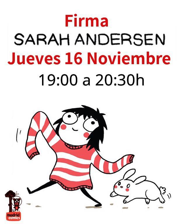Sarah Andersen: Sesión de firmas en Madrid Cómics