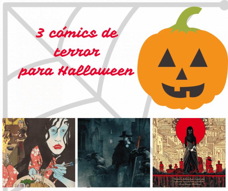 3 cómics de terror para Halloween