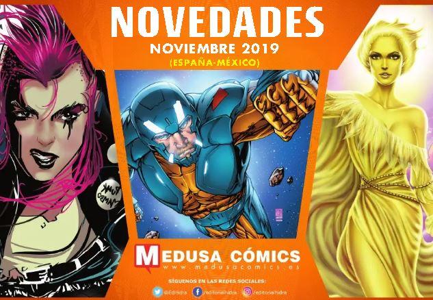 Novedades de Medusa Cómics para Noviembre de 2019