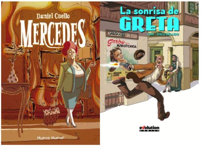 Comics a pares: «La sonrisa de Greta» y «Mercedes»
