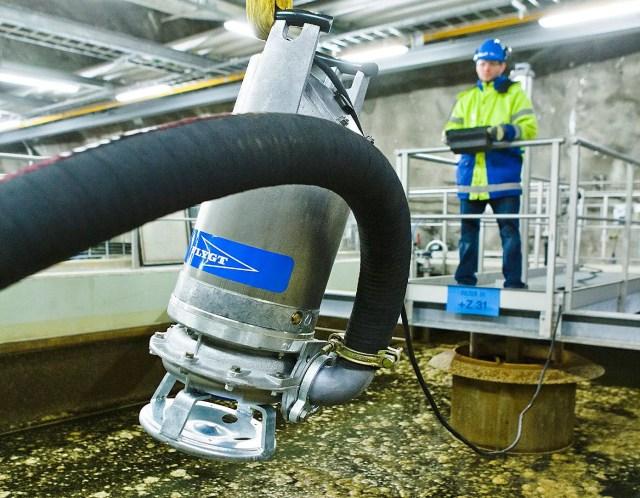 Montajul pentru pompe de apa uzata