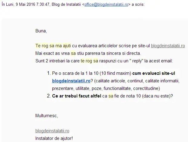Răspuns  poti sa ma ajuti    blogdeinstalatii gmail.com   Gmail