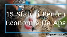 15 sfaturi pentru economie de apa