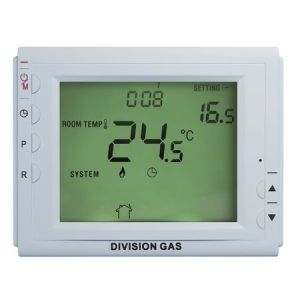 Termostat programabil pentru incalzirea in pardoseala Division Gas DG908 DF fara fir