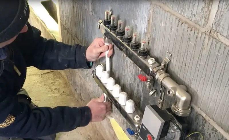 Actuatorul de la încălzirea prin pardosealăeste defect