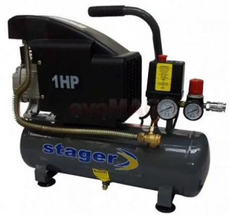 Compresor de aer Stager HM1010K, 6 litri, 8 bar