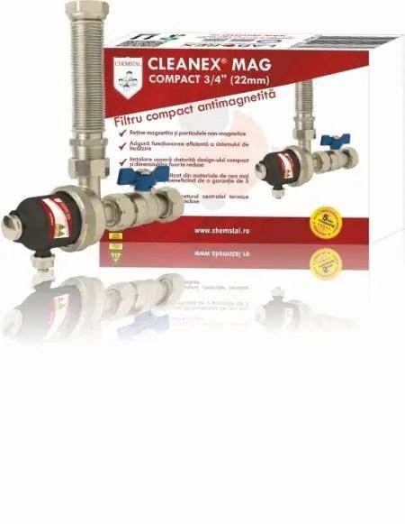 Filtrul antimagnetita CLEANEX MAG COMPACT 3 4 (22mm)