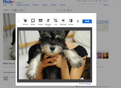 Editor de imágenes aviary en flickr.