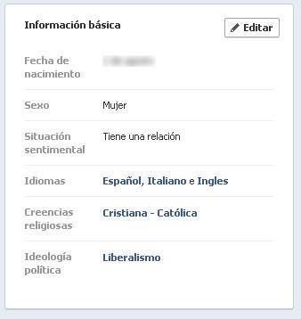 informacion basico facebook
