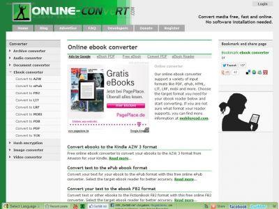 Ebook.online-convert, conversor eBooks
