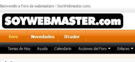 Foro para Bloggers y Webmasters