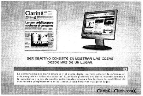 """La graciosa pauta institucional de Clarin, intentando enseñar lo que es Internet y la """"objetividad"""""""