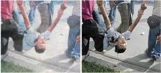 La falta de periodismo en los medios de Honduras provocó este tipo de cosas: borran la sangre de un joven asesinado por los golpistas.