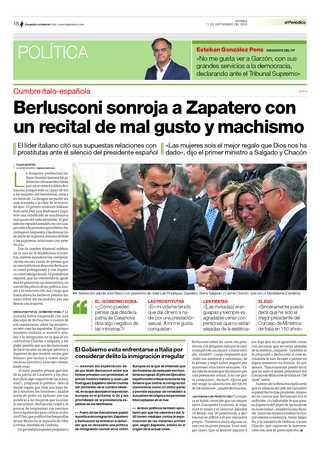Gracias a Clarín, el congreso anual de la SND comienza en Buenos Aires. La foto es un print-screen de la página 3 de una edición de El Periódico, de España.