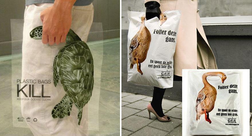 Acción Global en el interés de los animales: las bolsas de plástico mata