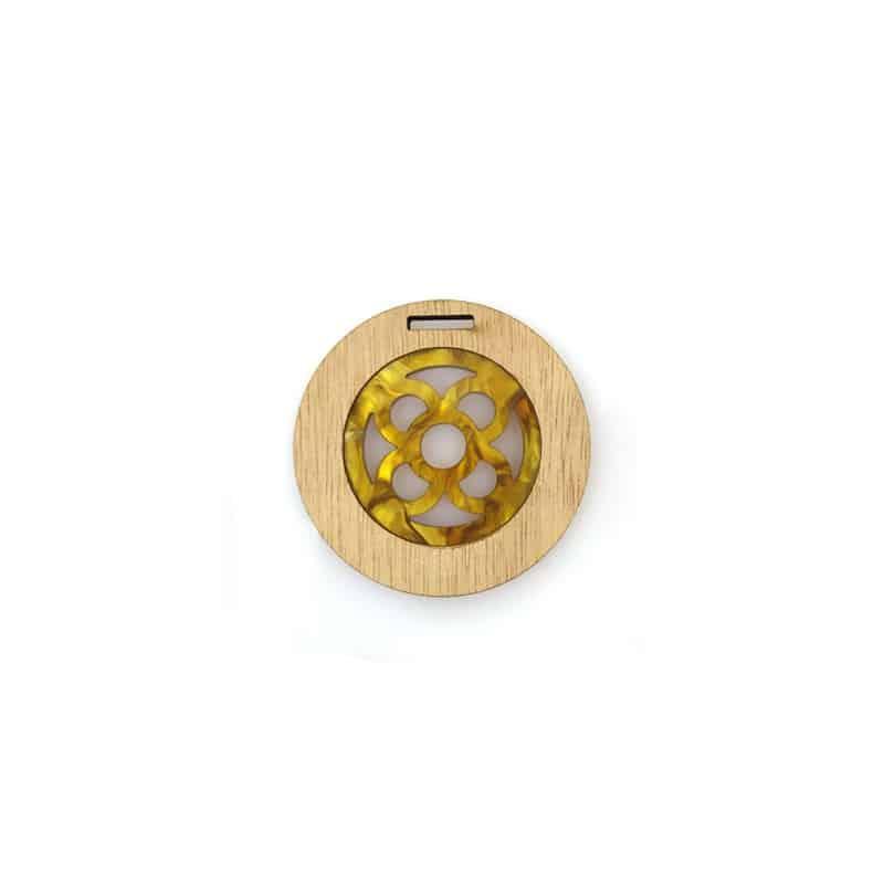 colgante-de-madera abalorio