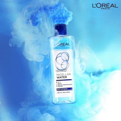 Nước tẩy trang L'Oreal Paris 3in1 Micellar Water da nhạy cảm giá rẻ