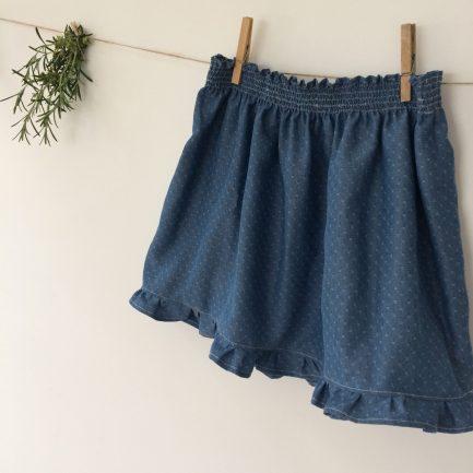 Patron couture enfant - La jupette à smocks d'Anne-Charlotte