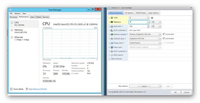 RAM y CPU en caliente